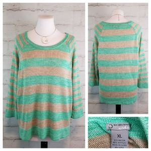 New Directions XL 3/4 Sleeve Thin Knit Sweater